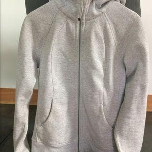 Luluemon size 6 heather grey hoodie